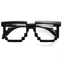 Cool Hipster 8-Bit Gamer Nerd Geek Glasses 8537