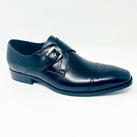 Stacy Adams Kimball 25110 001 Leather Black Monk Dress Shoes Mens Size 10.5