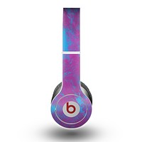 The Purple and Blue Paintburst Skin for the Beats by Dre Original Solo-Solo HD Headphones