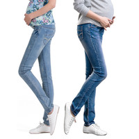 2016 Maternity Pants Plus Size Blue Jeans Pants Slim Women Abdominal Denim Trousers Fashion Maternity Clothes Leggings