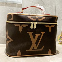 LV Fashion New Monogram Print Leather Shoulder Bag Cosmetic Bag Women Handbag
