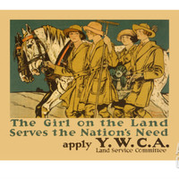 The Girl on Land Serves the Nations Need Art Print by Edward Penfield at Art.com