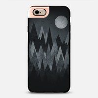 Dark Mystery Abstract Geometric Triangle Peak Wood's (black & white) iPhone 6 case by Philipp Rietz | Casetify