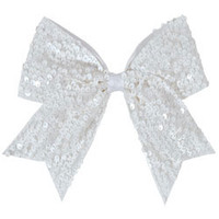 Dangling Sequin Cheerleading Performance Hair Bow