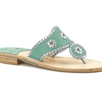 Sorority Colors - Turquoise & Matte Silver - College Colors - Jack Rogers USA