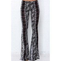 Lucky Duck Boho Bell Bottoms in Smokey Mountain