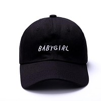 BABYGIRL Black Embroidered Cotton Dad Hat