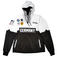 Club Foreign Germany 2 Tone Windbreaker In White/Black