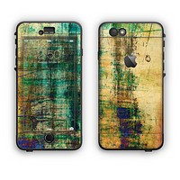 The Grungy Scratched Surface V3 Apple iPhone 6 Plus LifeProof Nuud Case Skin Set