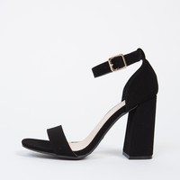 Single Banded Chunky Heels - 8