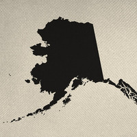 State of Alaska Style Silhouette Graphic Iron On Tote Bag Pillow Sheet Burlap Transfer United States System Digital Download No. US3