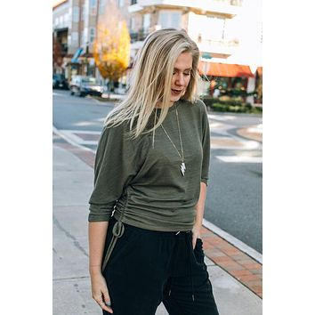 Marion Tee {Olive}