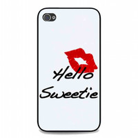 kiss hello sweetie For iphone 4 and 4s case