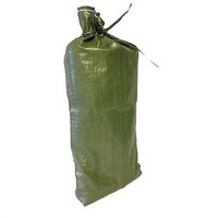 50 Green Sandbags w/ ties 14x26 Sandbag,Bags,Sand Bags- Flood Erosion Barriers