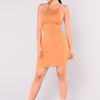 Steph Steph Mini Dress - Mustard