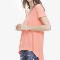 Coral One Eleven Hi-lo Hem Tunic Tee from EXPRESS