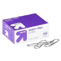 up & up™ Paper Clips Jumbo Clear 100-ct.