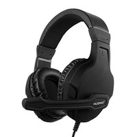 NUBWO U3 Xbox One PS4 Gaming Headset PC Mic, Laptop Computer Stereo Headphones with Microphone for Playstation 4 Xbox 1 Games Controller - Black