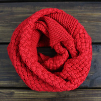 Infinity Knit Scarf, Red Fall Scarf, Chunky Scarves, Red Knit Scarf, Woven Scarf, Chunky Knit Scarf, Infinity Scarfs, Knitted Scarf