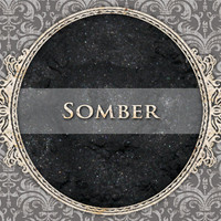 SOMBER Mineral Eyeshadow: 5g Sifter Jar, Pure Jet Black, Vegan Cosmetics, Goth Eyeshadow
