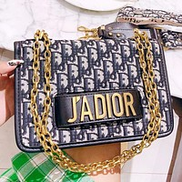 DIOR Fashion New More Letter Leather Chain Shoulder Bag Crossbody Bag Women