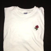 Hand Embroidered Rose Shirt