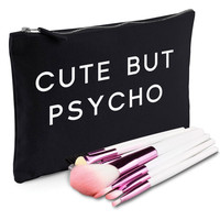 Cute But Psycho Makeup Bag
