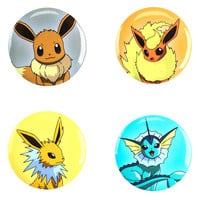 Loungefly Pokemon Eevee Evolutions Pin Set
