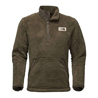 Men's Campshire Sherpa Fleece Pullover in Burnt Olive Green by The North Face