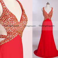 Red Two Shoulder Beading Prom Dresses,long prom dresses,prom dresses,prom dress,prom dresses long,bridesmaid dresses,bridesmaid dress,party