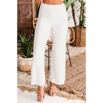 Total Softie Terry Cloth Lounge Pants (White)