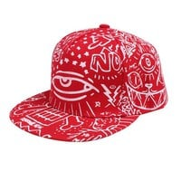 Hip Hop Cap Unisex Flat Adjustable Printed Retro Baseball Caps Skateboard Summer Hats Gorro Masculino#121