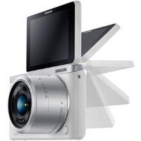 Samsung NX Mini EV-NXF1ZZB4HUS Wireless Smart 20.5MP Mirrorless Digital Camera with 2.96-Inch LCD (White)