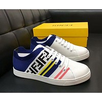Fendi 2019 new trend casual wild sports men's shoes White