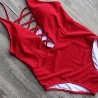 Summer Bandage One Piece Swimsuit
