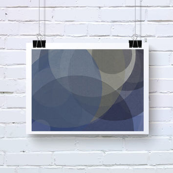Abstract Generative Art based on Mathematics and Geometry. Mystic Rose 075_8as. Violet, Blue, Grey art. Office wall decor. Geeky wall art.