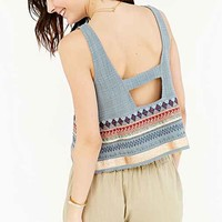Ecote Embroidered Border Apron Tank