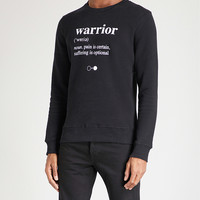 A BLACK AND WHITE STORY Warrior cotton-jersey sweater