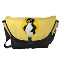 Rockhopper penguin cartoon courier bag