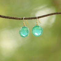 Front & Center Earrings in Turquoise