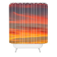 Shannon Clark Fire in the Sky Shower Curtain