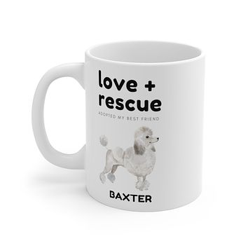 love + rescue Mug — White Poodle