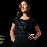Keep Calm Black on Black Tee - The Chivery