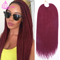 """18"""" 30 Strands 75g/pack Crotchet Braids Ombre Hair Extensions"""
