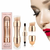 Al In One 4 Way Cosmetic Makeup Brush Tool