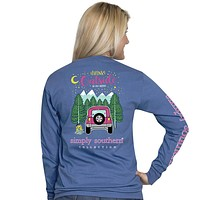 """Simply Southern """"Preppy Think"""" Jeep Long Sleeve Tee"""
