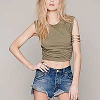 Intimately Womens All Wrapped Crop - Army