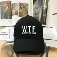 WTF - Where's The Food Dad Hat - Baseball Cap, Tumblr hat ,Strap Back Baseball Hat Baseball Cap , Low-Profile Baseball Cap Hat