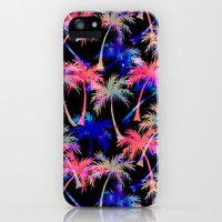 Falling Palms - Nightlight iPhone & iPod Case by Schatzi Brown