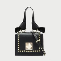 hcxx 1255 Valentino Rivet Disassemble Shoulder Strap Handbag black